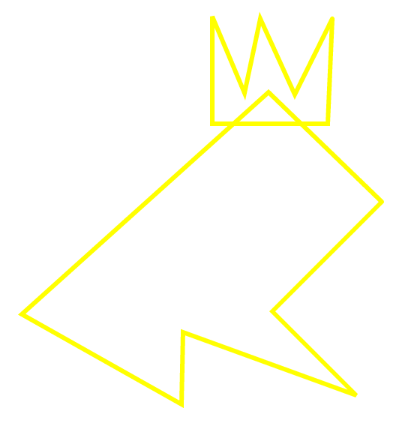 An abstract line-based representation of a Frog