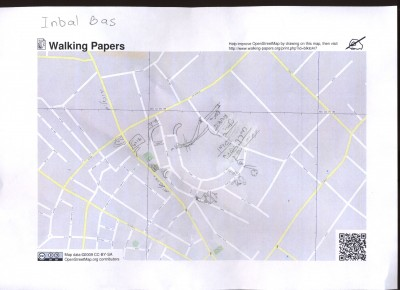 Notes on Walking Paper print